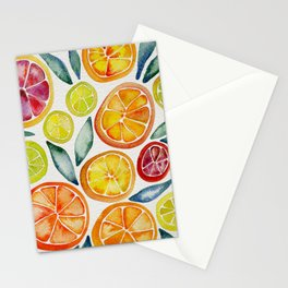 Sliced Citrus Watercolor Stationery Cards