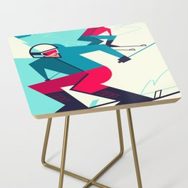Skiing Side Table