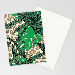 Leopard jungle Stationery Cards