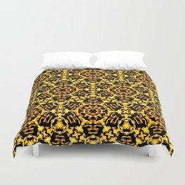 Sunny Gold Pattern Duvet Cover