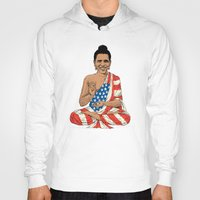 obama Hoodies featuring Buddha Obama by Jack Coltman
