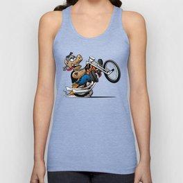 Biker Hog Motorcycle Cartoon Unisex Tank Top