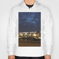 moscow Hoodies featuring Night Moscow. by Mikhail Zhirnov