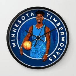 Jimmy Butler Minnesota Wall Clock