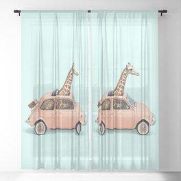 GIRAFFE CAR Sheer Curtain