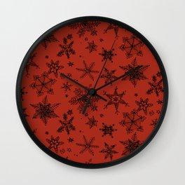 Snow Flakes 09 Wall Clock
