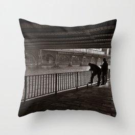 Autumnal Symphony of a Metropolis Throw Pillow