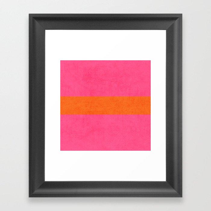 hot pink and orange classic  Gerahmter Kunstdruck
