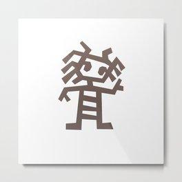 Rasta man Cave carving illustration Metal Print