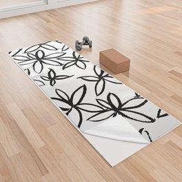 Big Floral Yoga Towel