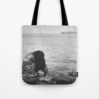 alone Tote Bags featuring Alone  by PhotoStories