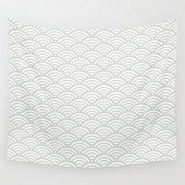 Gray Grey Mermaid Scales Sea Salt Wall Tapestry