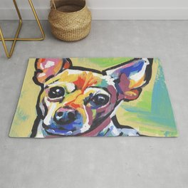 Fun Chihuahua Dog bright colorful Pop Art Rug