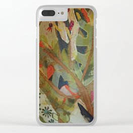 Exotic abstract patterns of nature Clear iPhone Case