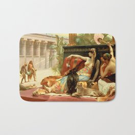 "Alexandre Cabanel ""Cleopatra Testing Poisons on Condemned Prisoners"" Bath Mat"