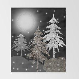 Christmas night Throw Blanket