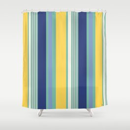 Sunny Beach Print Shower Curtain