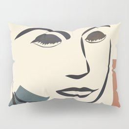 Abstract Face III Pillow Sham