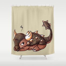 Prickly Mood Shower Curtain