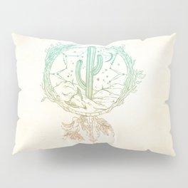 Desert Cactus Dreamcatcher Turquoise Coral Gradient Pillow Sham
