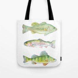 Fishing Watercolor Painting Tote Bag