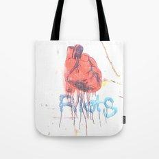 Bleeding Heart Graffiti Tote Bag