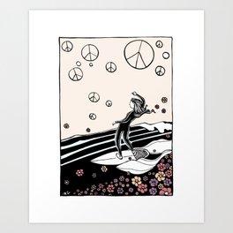 Peace Surf Happy Place Art Print