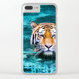 Tiger in Water Clear iPhone Case