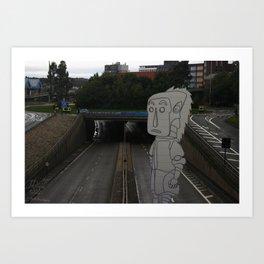 Geordie Art Print