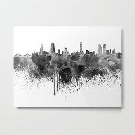 Manama skyline in black watercolor  Metal Print