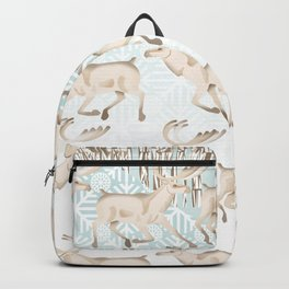 White reindeer  Backpack