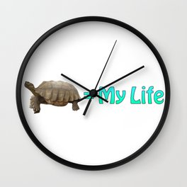 My Sulcata = My Life Wall Clock