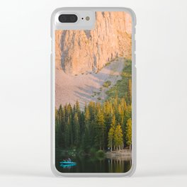 Sunset on a Colorado Lake Clear iPhone Case