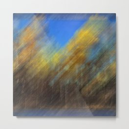 Golden Aspen Trees Autumn Color Metal Print