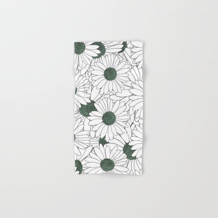 Daisy Mint Hand & Bath Towel