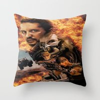 mad max Throw Pillows featuring Mad Max by SB Art Productions