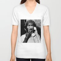 rocky horror V-neck T-shirts featuring Rocky Horror Queen by Marko Köppe