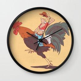 Girl Riding a Cock Wall Clock