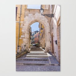 Porta Pescara, Old Arch Canvas Print