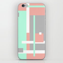 Pastel Geometric Abstract iPhone Skin