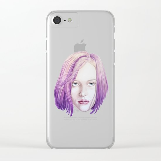 Lilas Clear iPhone Case
