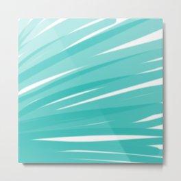 Bahama Blue Line Art, Variable Opacity Color Study - 3 Metal Print