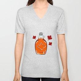 Super Canadian Maple Syrup Pattern Unisex V-Neck