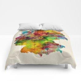 Germany Watercolor Map (Deutschland) Comforters