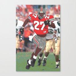 Ohio State Buckeyes - Eddie George (1995) (Vector Art) Canvas Print