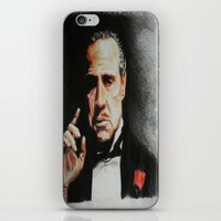 godfather iPhone & iPod Skins featuring The Godfather by Tridib Das