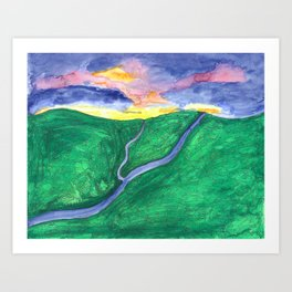 Evening Over the Valley Art Print