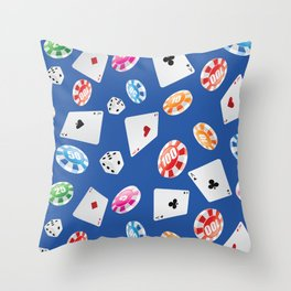 #casino #games #accessories #pattern 6 Throw Pillow