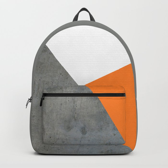 Concrete Tangerine White Rucksack