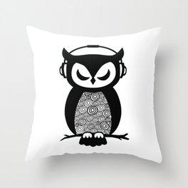 Nocturnal Beats Throw Pillow